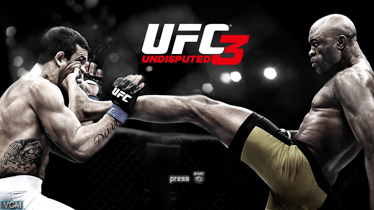 Title screen of the game UFC Undisputed 3 on Microsoft Xbox 360