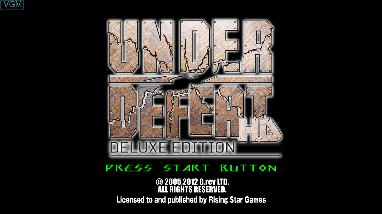 Title screen of the game Under Defeat HD on Microsoft Xbox 360