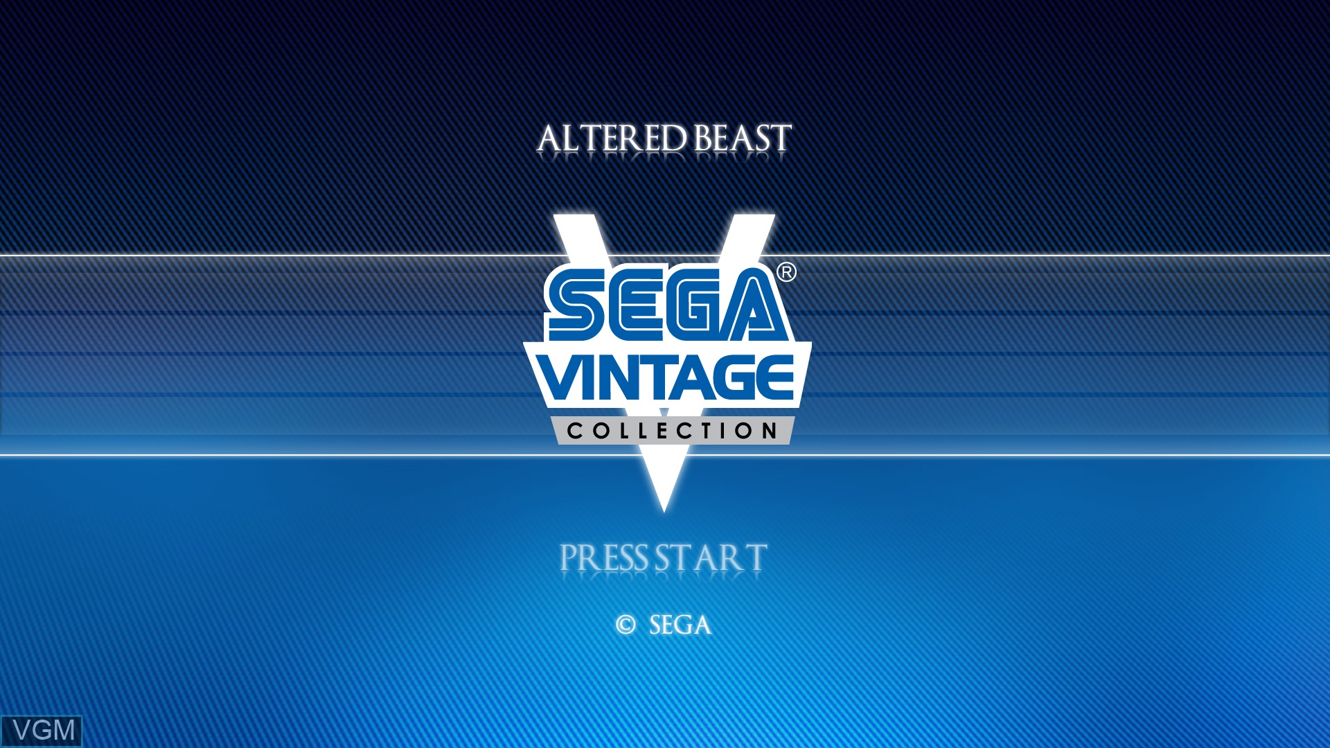 Title screen of the game Altered Beast on Microsoft Xbox 360