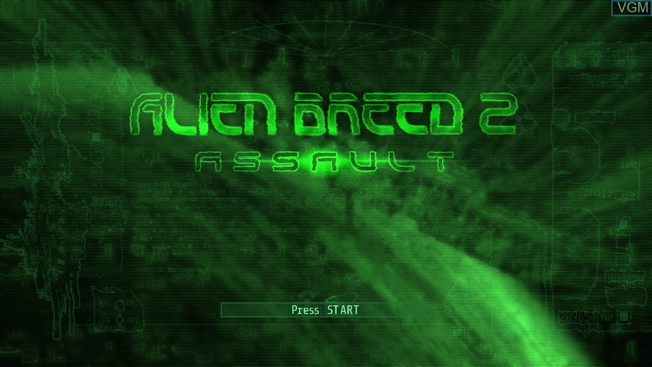 Title screen of the game Alien Breed 2 - Assault on Microsoft Xbox 360