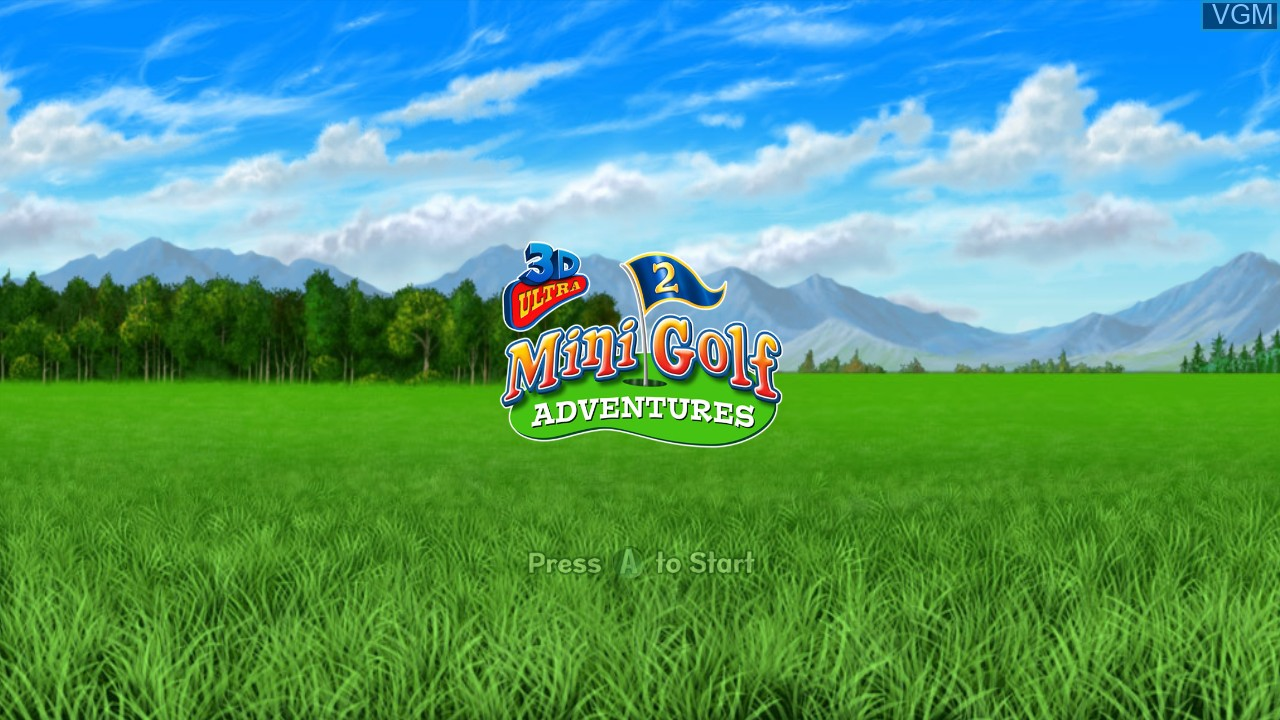 Title screen of the game 3D Ultra MiniGolf Adventures 2 on Microsoft Xbox 360
