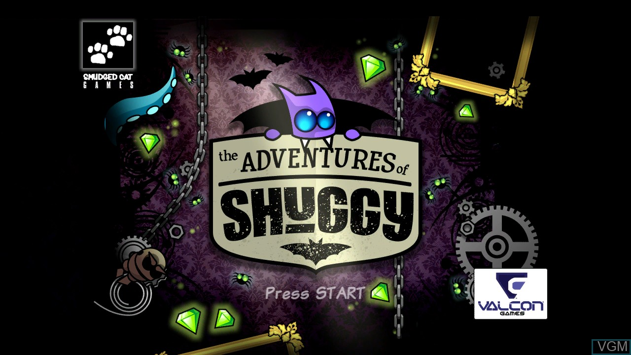 Title screen of the game Adventures of Shuggy, The on Microsoft Xbox 360
