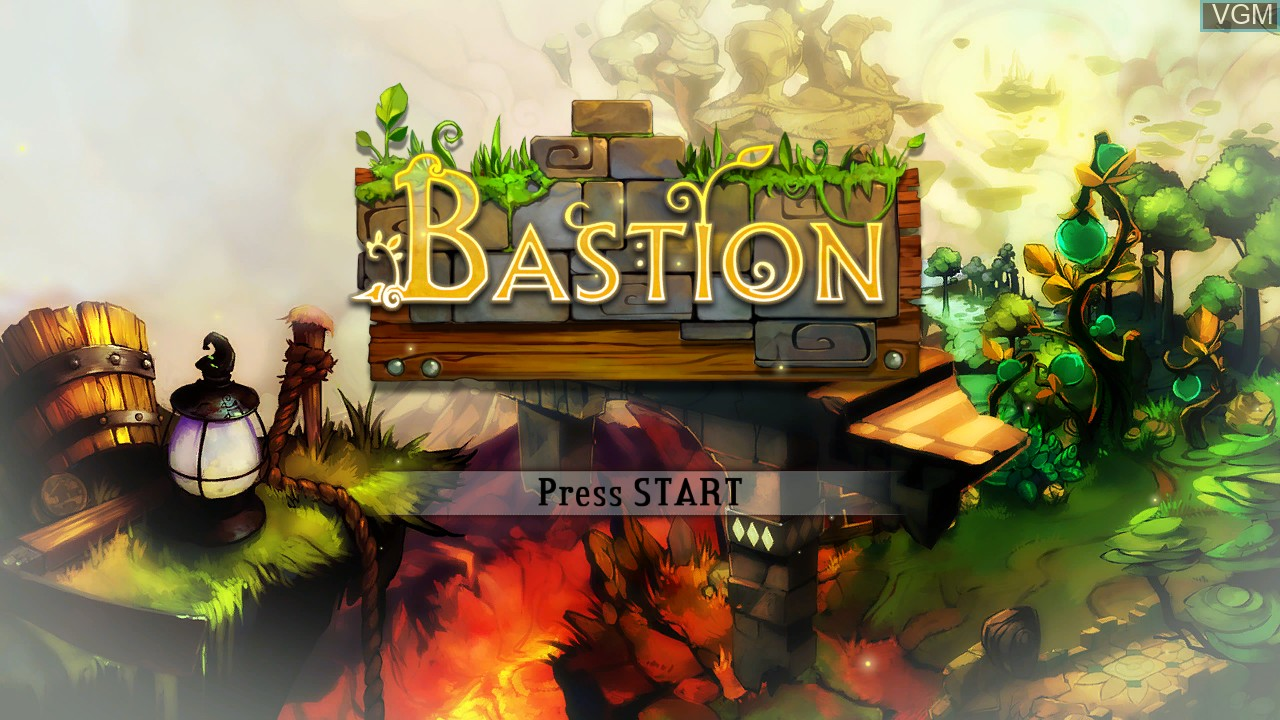 Title screen of the game Bastion on Microsoft Xbox 360