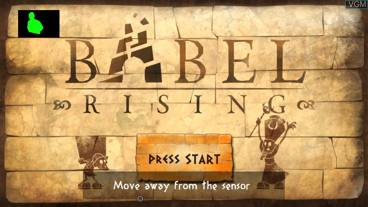 Title screen of the game Babel Rising on Microsoft Xbox 360