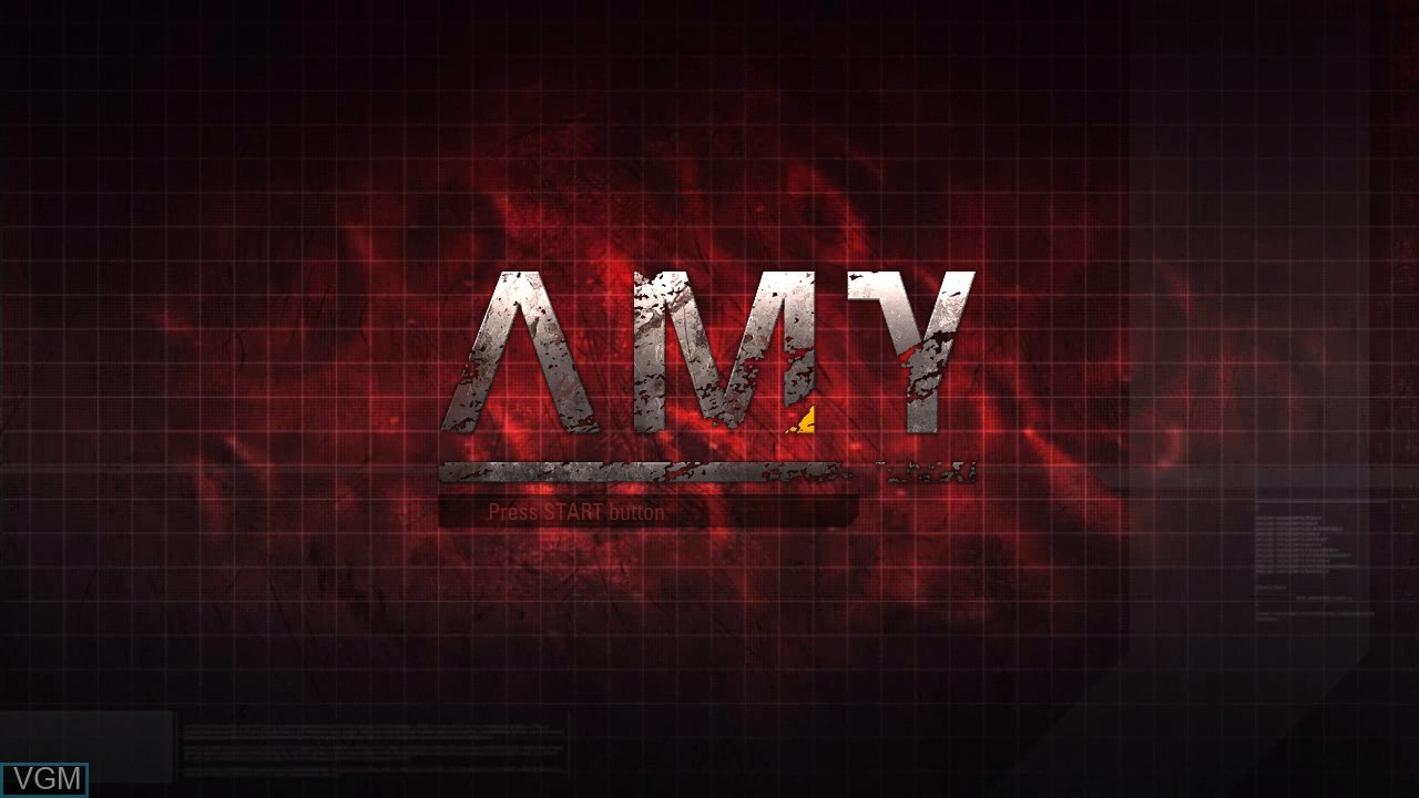 Title screen of the game AMY on Microsoft Xbox 360