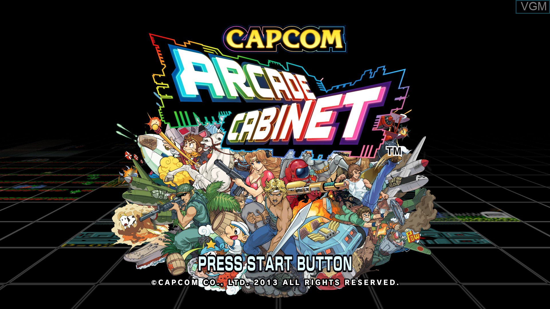 Title screen of the game Capcom Arcade Cabinet on Microsoft Xbox 360