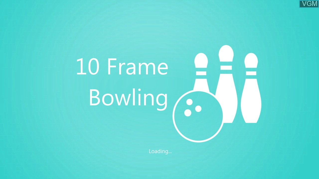 Title screen of the game Kinect Sports - 10 Frame Bowling on Microsoft Xbox 360
