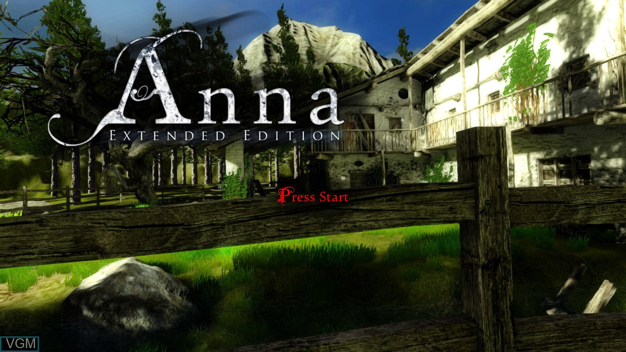 Title screen of the game Anna - Extended Edition on Microsoft Xbox 360