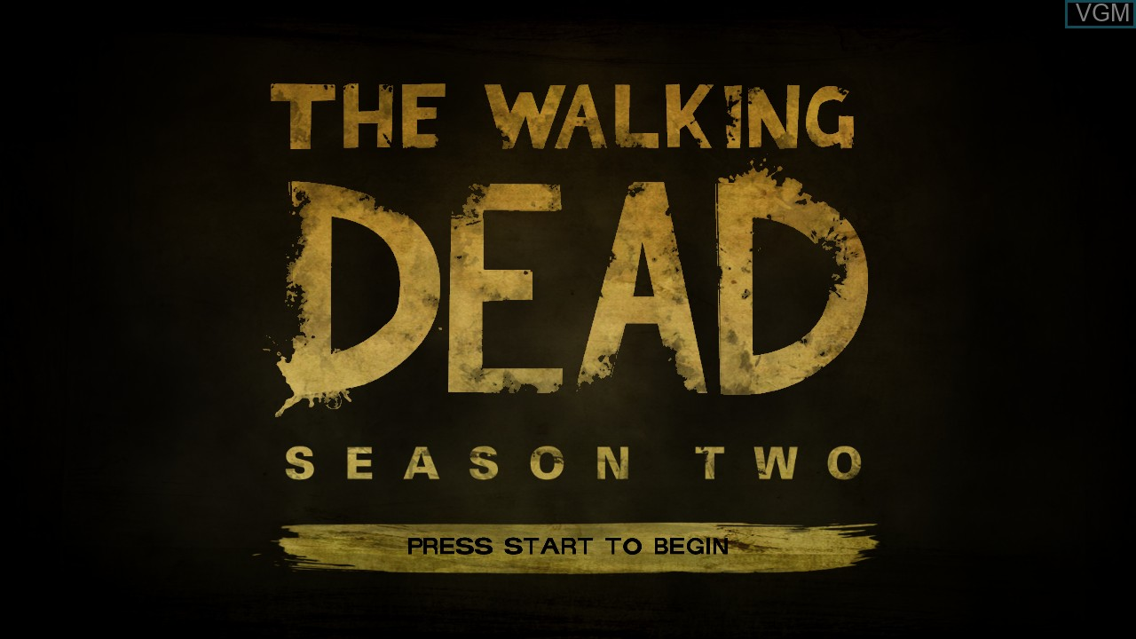 Title screen of the game Walking Dead, The - Season Two - A Telltale Games Series on Microsoft Xbox 360