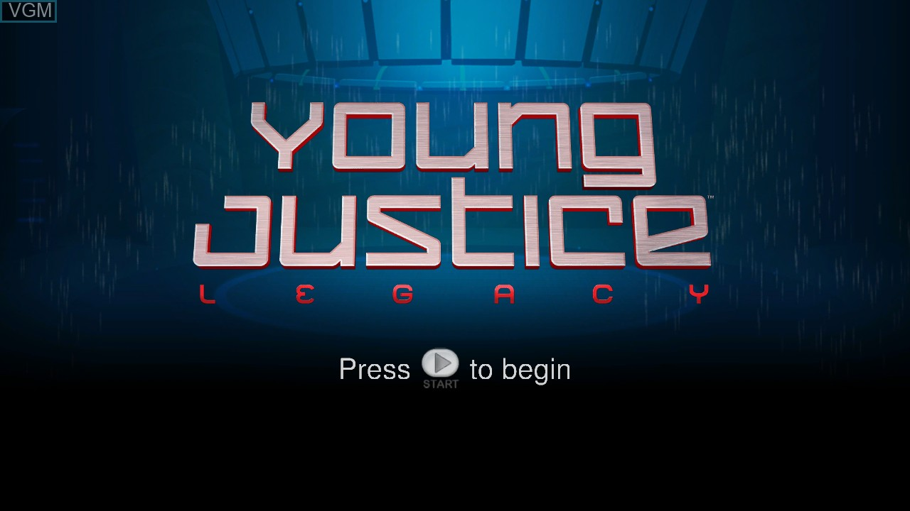 Title screen of the game Young Justice - Legacy on Microsoft Xbox 360