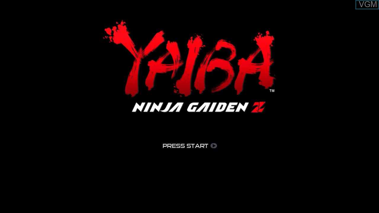 Title screen of the game Yaiba - Ninja Gaiden Z on Microsoft Xbox 360