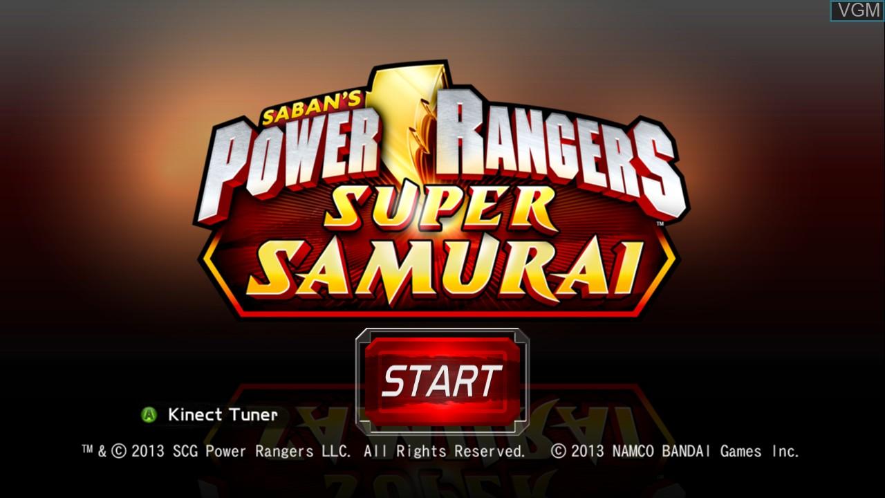 Title screen of the game Power Rangers Super Samurai on Microsoft Xbox 360