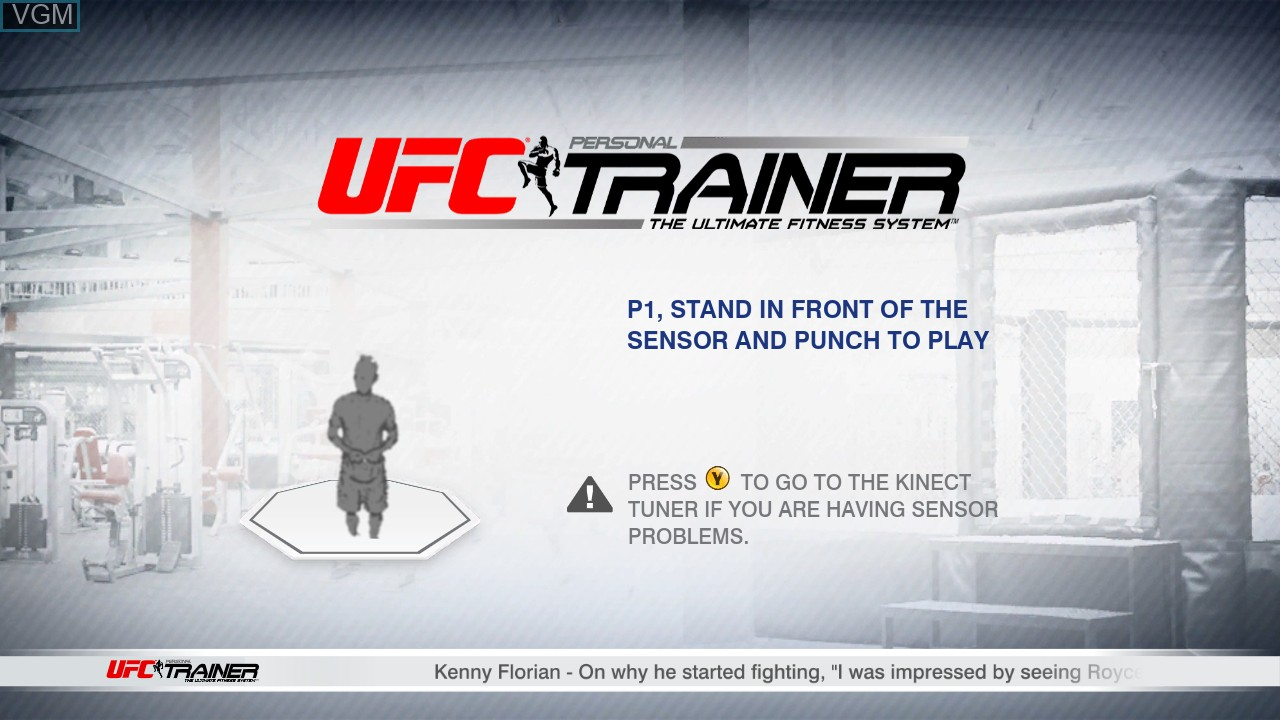 Title screen of the game UFC Personal Trainer - The Ultimate Fitness System on Microsoft Xbox 360