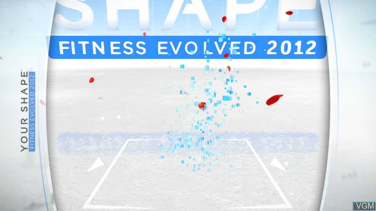 Title screen of the game Your Shape Fitness Evolved 2012 on Microsoft Xbox 360