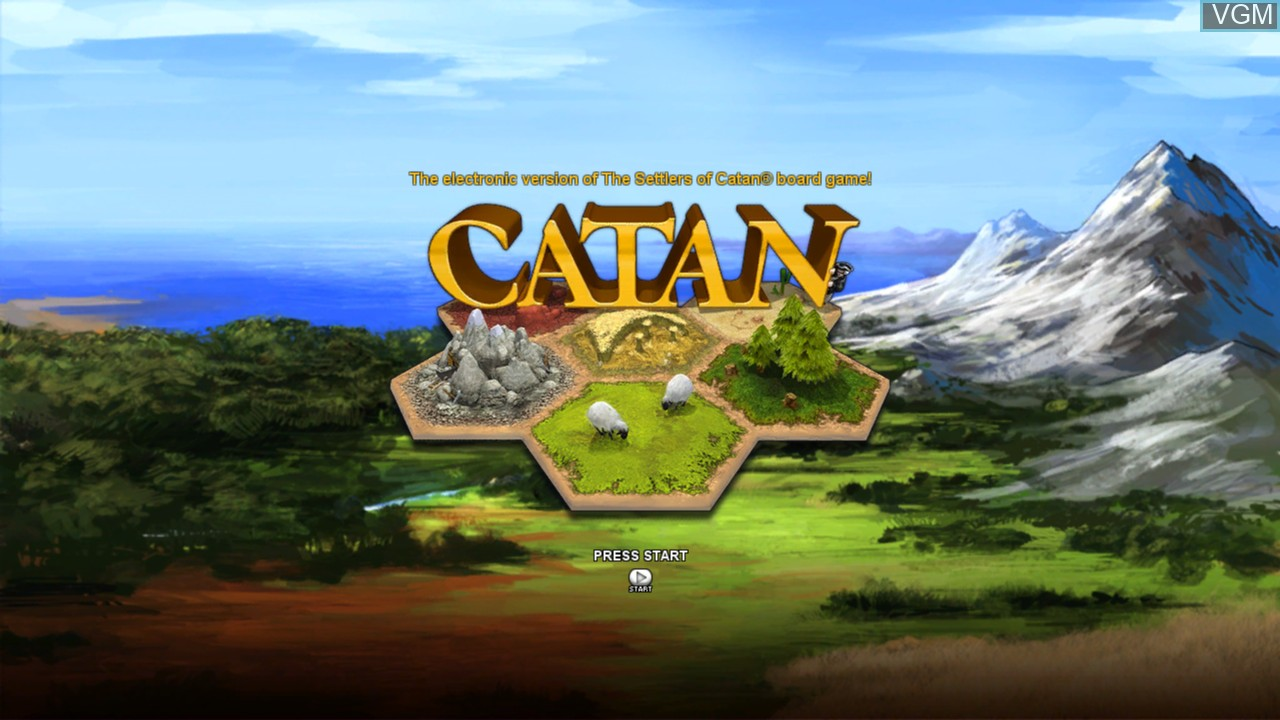 Title screen of the game Catan on Microsoft Xbox 360