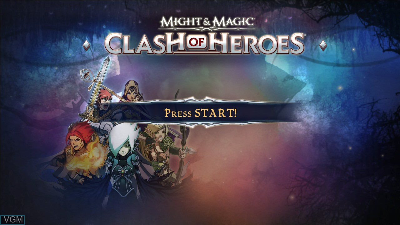 Title screen of the game Might & Magic - Clash of Heroes on Microsoft Xbox 360