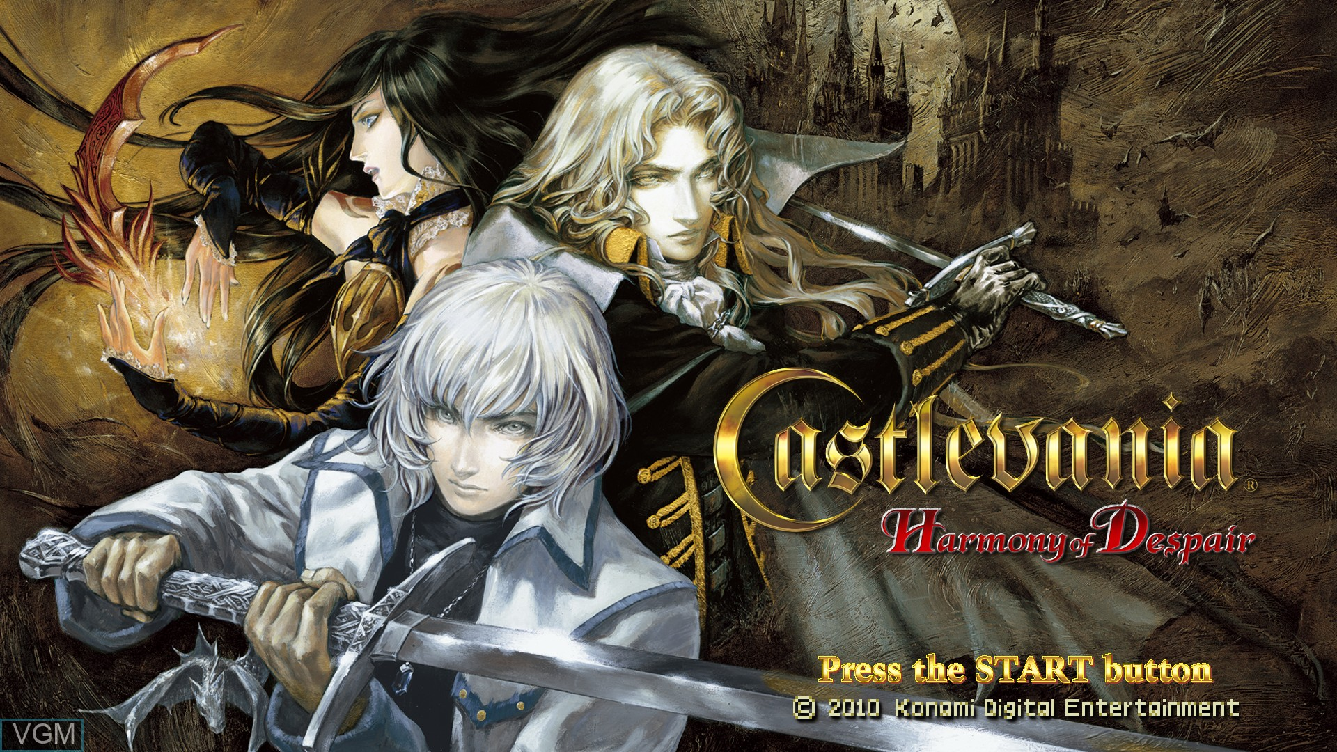 Title screen of the game Castlevania - Harmony of Despair on Microsoft Xbox 360