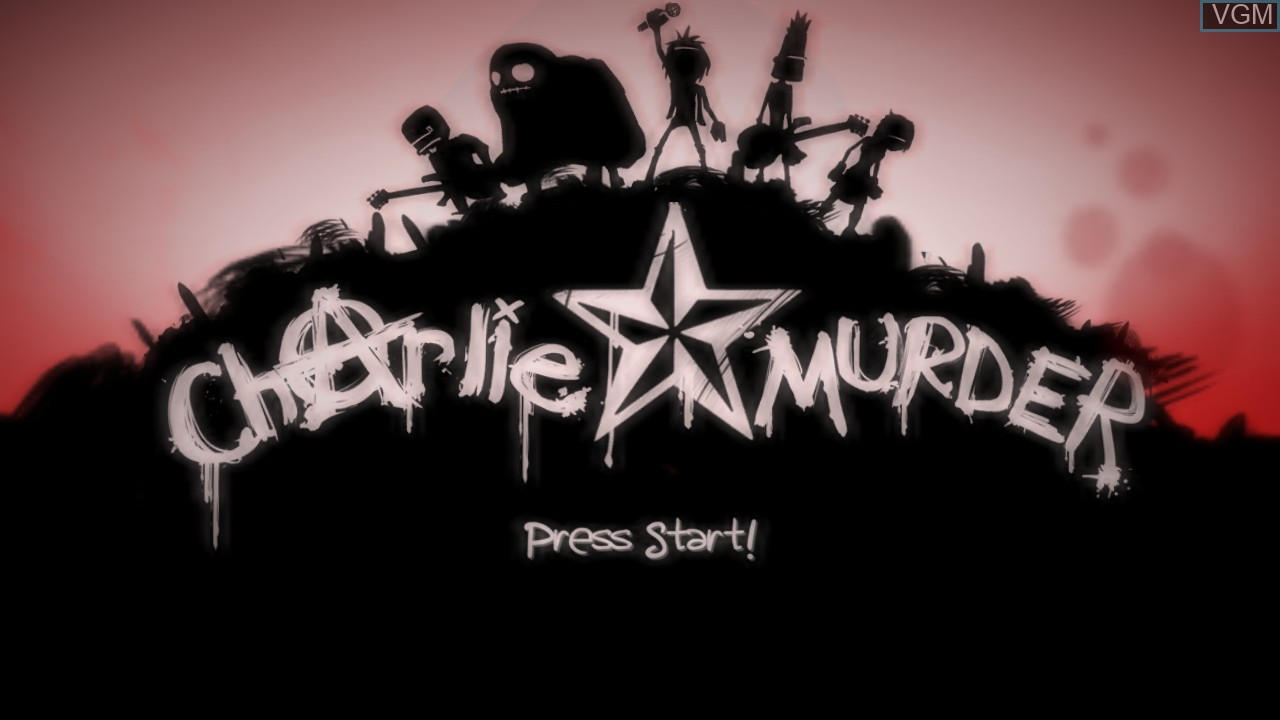 Title screen of the game Charlie Murder on Microsoft Xbox 360