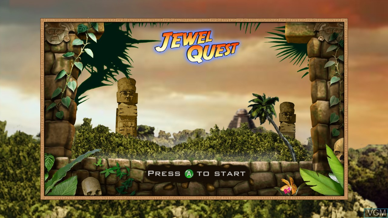 Title screen of the game Jewel Quest on Microsoft Xbox 360