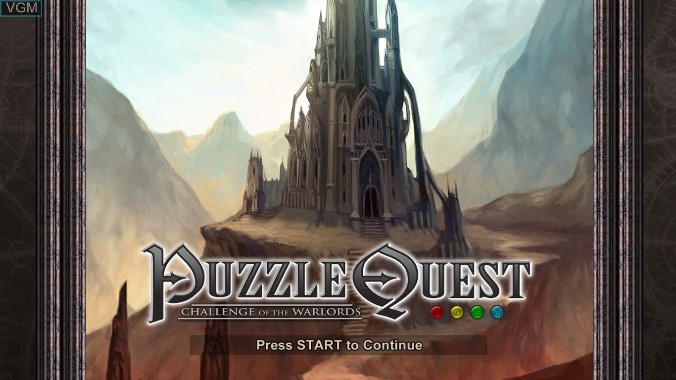 Title screen of the game Puzzle Quest - Challenge of the Warlords on Microsoft Xbox 360
