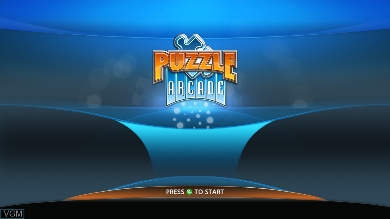Title screen of the game Puzzle Arcade on Microsoft Xbox 360