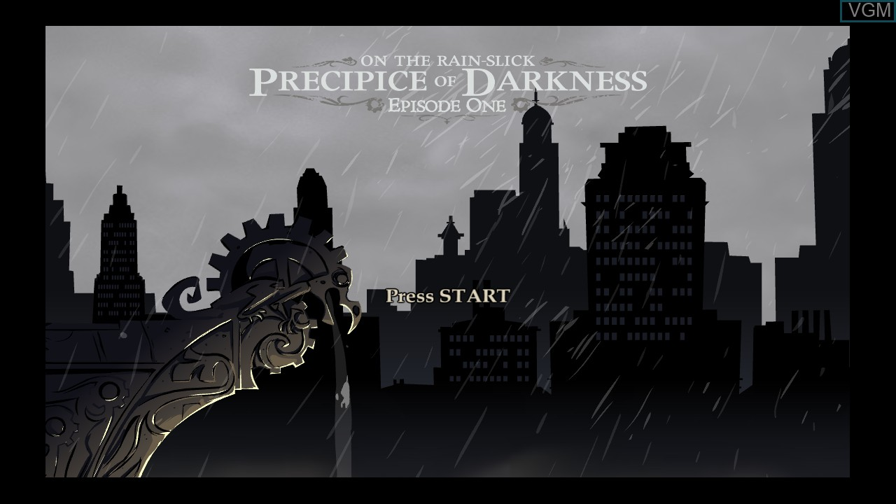 Title screen of the game Penny Arcade Adventures - On the Rain-Slick Precipice of Darkness Episode One on Microsoft Xbox 360