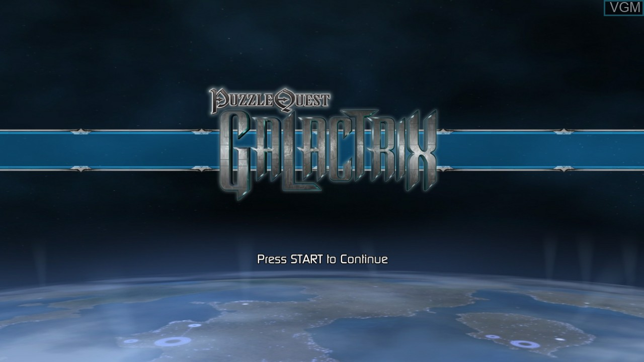 Title screen of the game Puzzle Quest - Galactrix on Microsoft Xbox 360