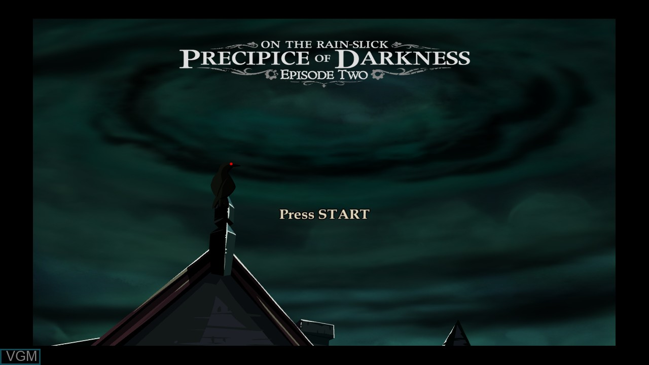 Title screen of the game Penny Arcade Adventures - On the Rain-Slick Precipice of Darkness Episode Two on Microsoft Xbox 360