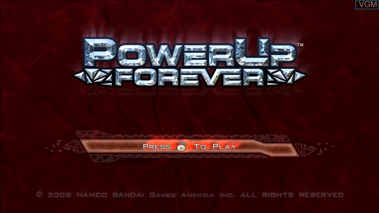 Title screen of the game PowerUp Forever on Microsoft Xbox 360