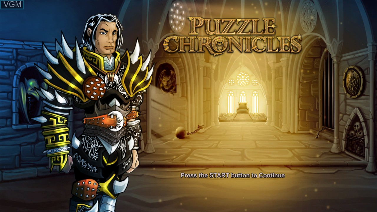 Title screen of the game Puzzle Chronicles on Microsoft Xbox 360