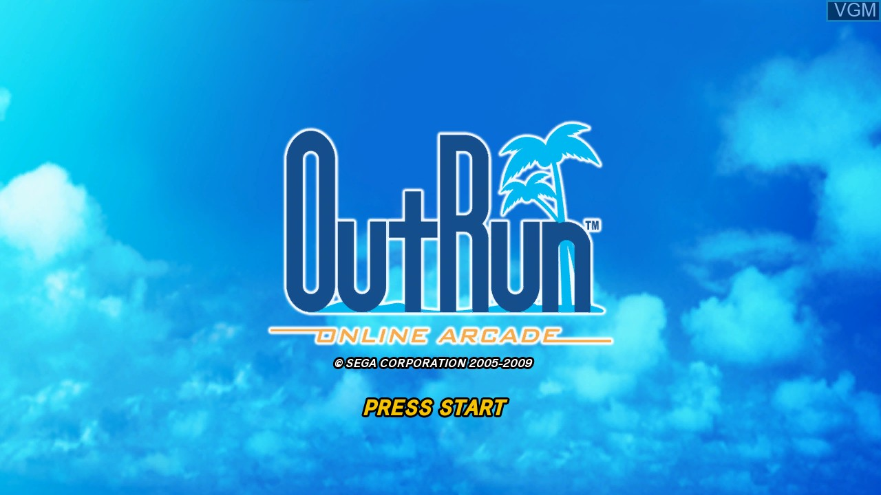 Title screen of the game OutRun Online Arcade on Microsoft Xbox 360