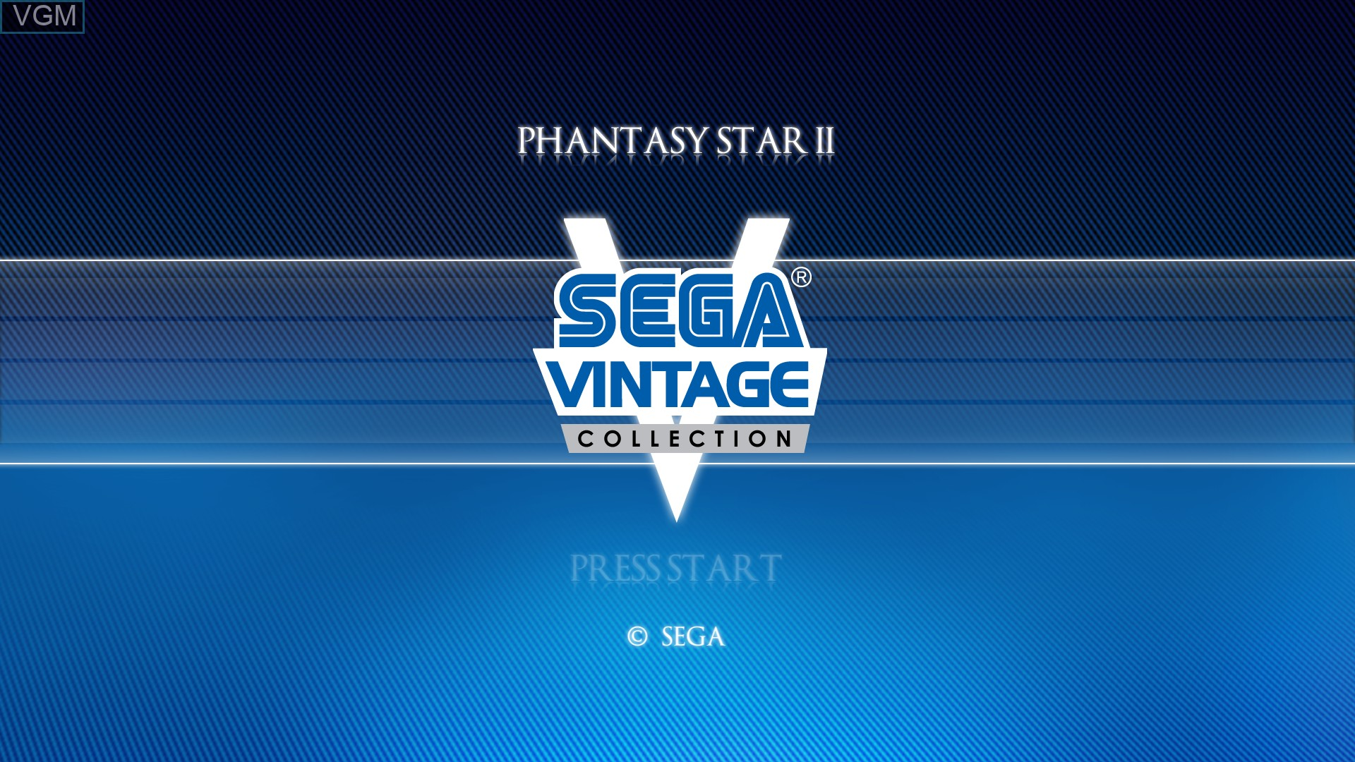 Title screen of the game Phantasy Star II on Microsoft Xbox 360