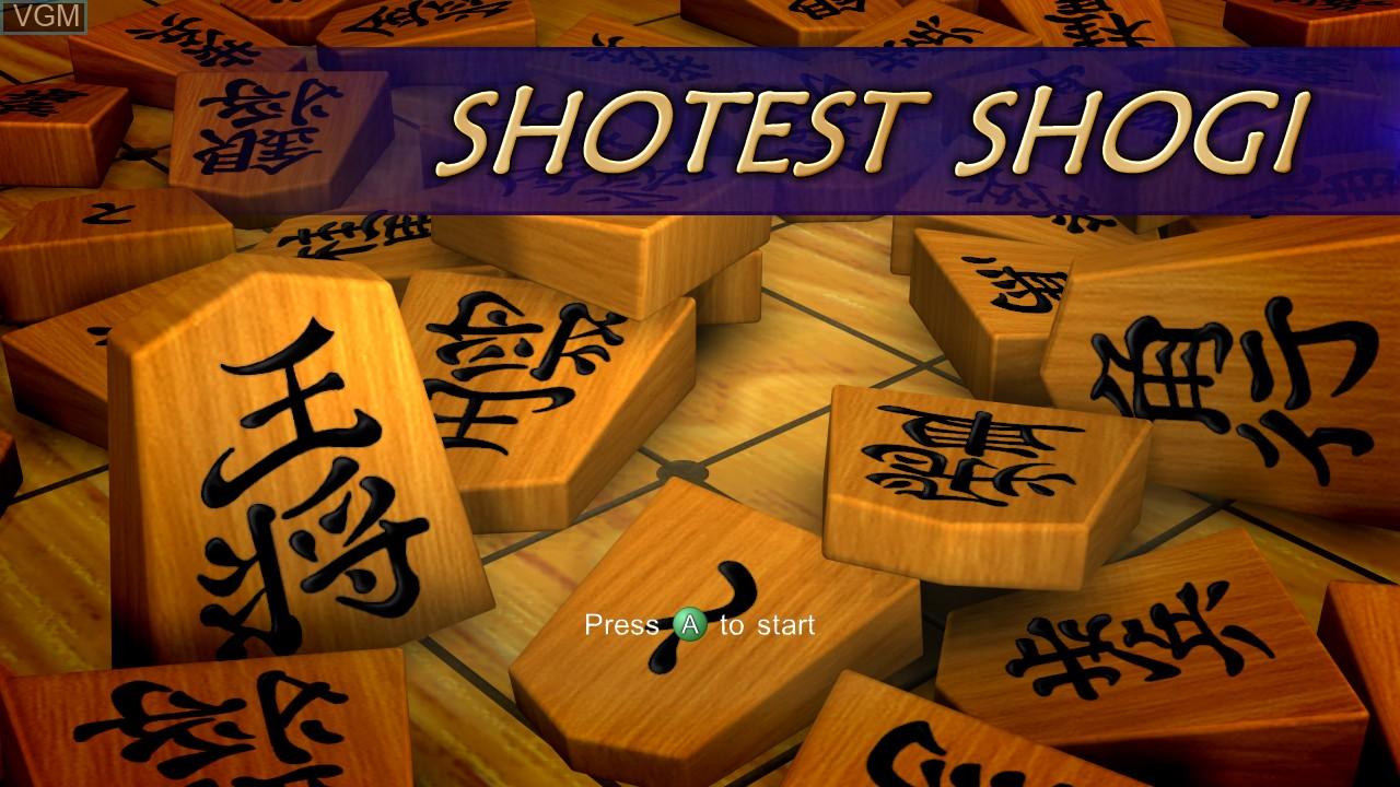 Title screen of the game Shotest Shogi on Microsoft Xbox 360