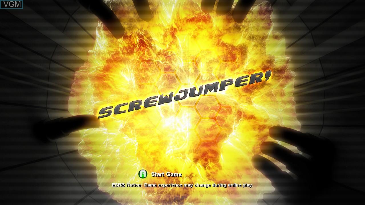 Title screen of the game Screwjumper! on Microsoft Xbox 360