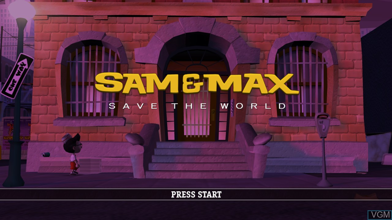 Title screen of the game Sam & Max - Save the World on Microsoft Xbox 360
