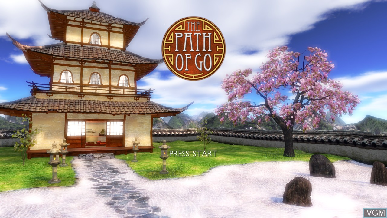 Title screen of the game Path of Go, The on Microsoft Xbox 360