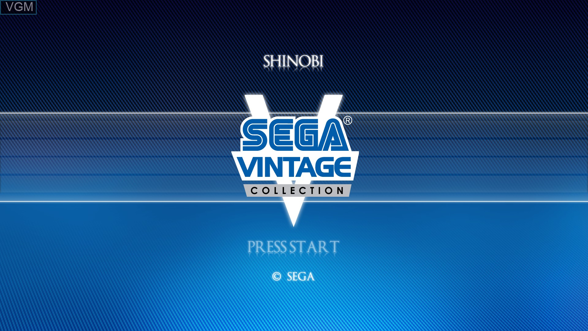 Title screen of the game Shinobi on Microsoft Xbox 360