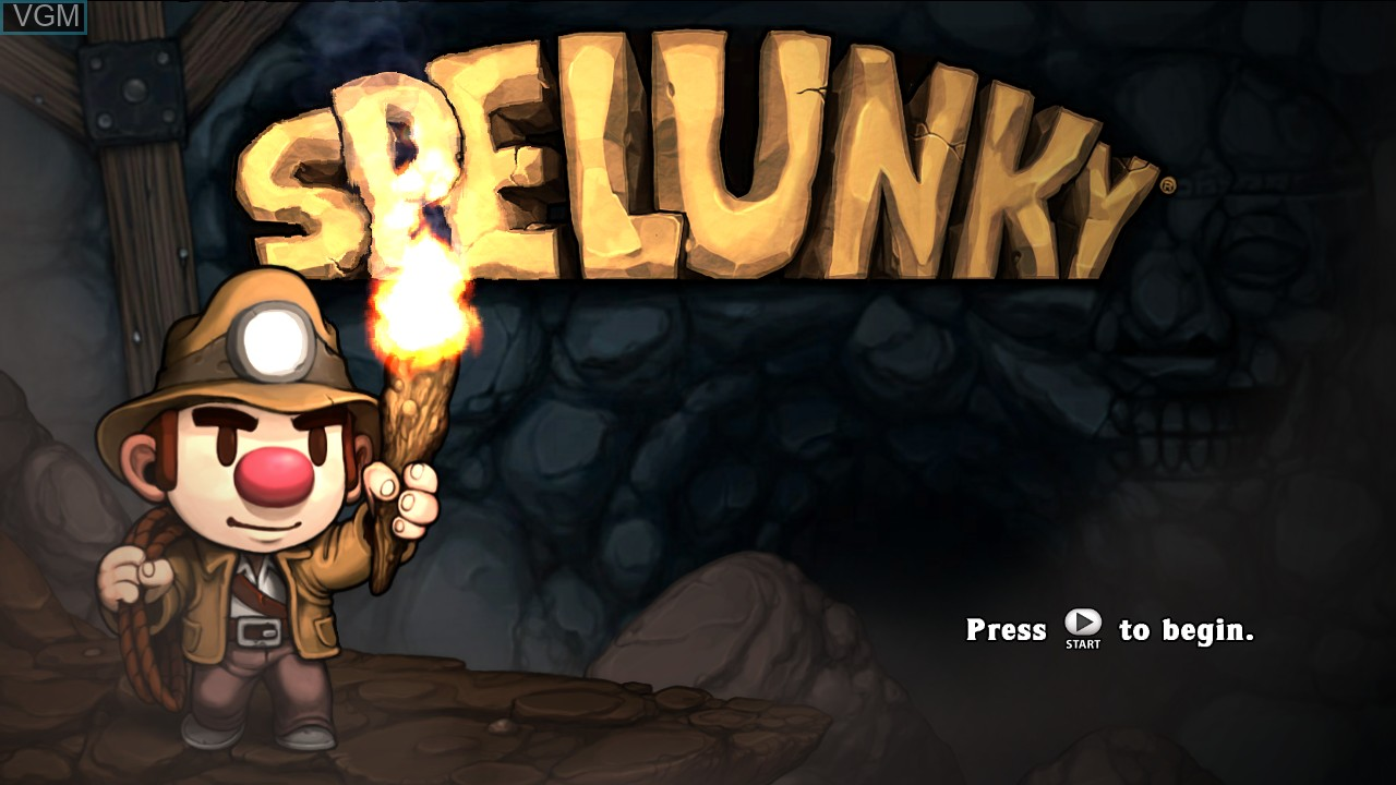 Title screen of the game Spelunky! on Microsoft Xbox 360
