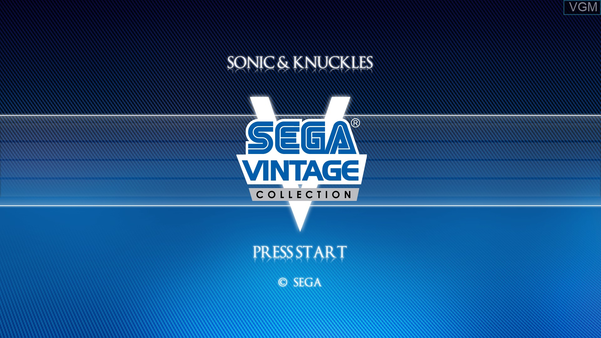 Title screen of the game Sonic & Knuckles on Microsoft Xbox 360