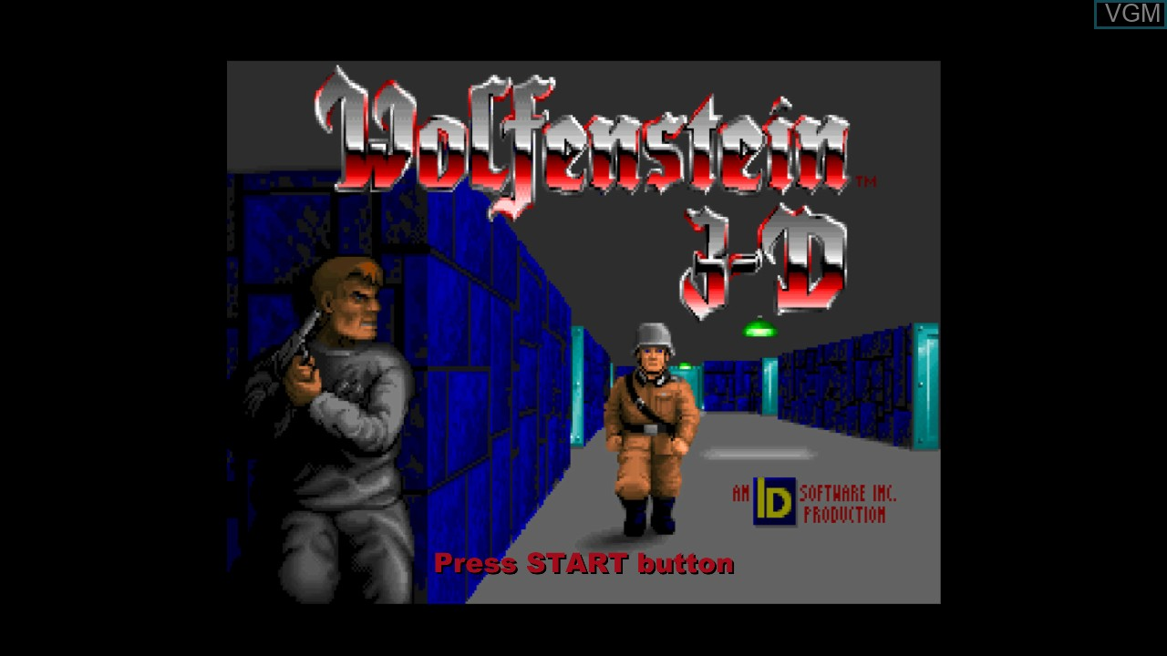 Title screen of the game Wolfenstein 3D on Microsoft Xbox 360