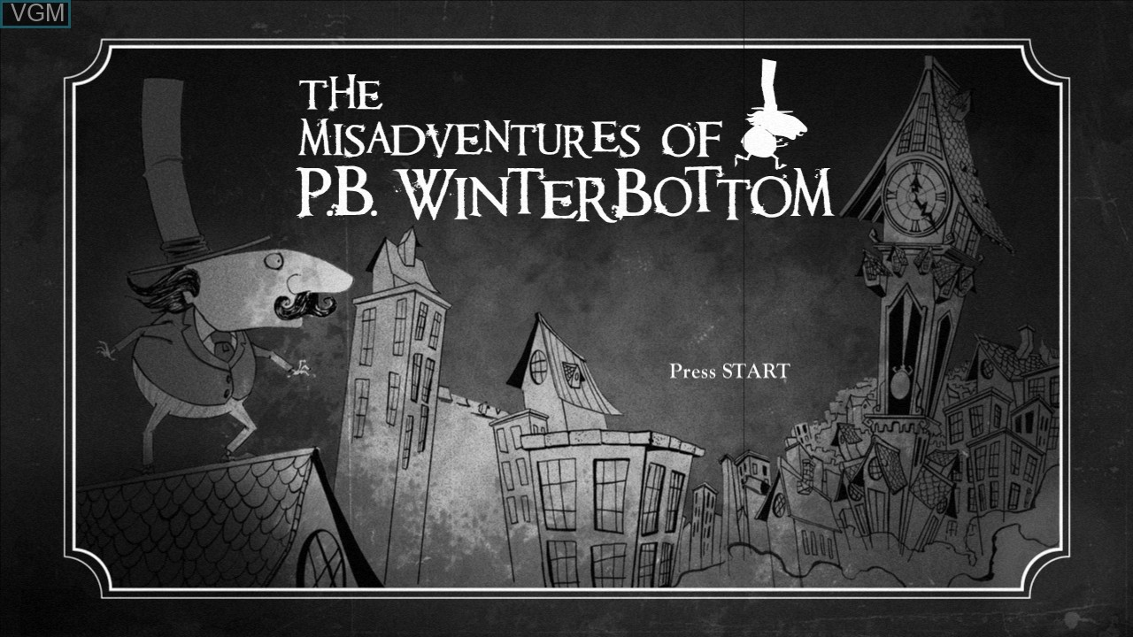 Title screen of the game Misadventures of P.B. Winterbottom, The on Microsoft Xbox 360
