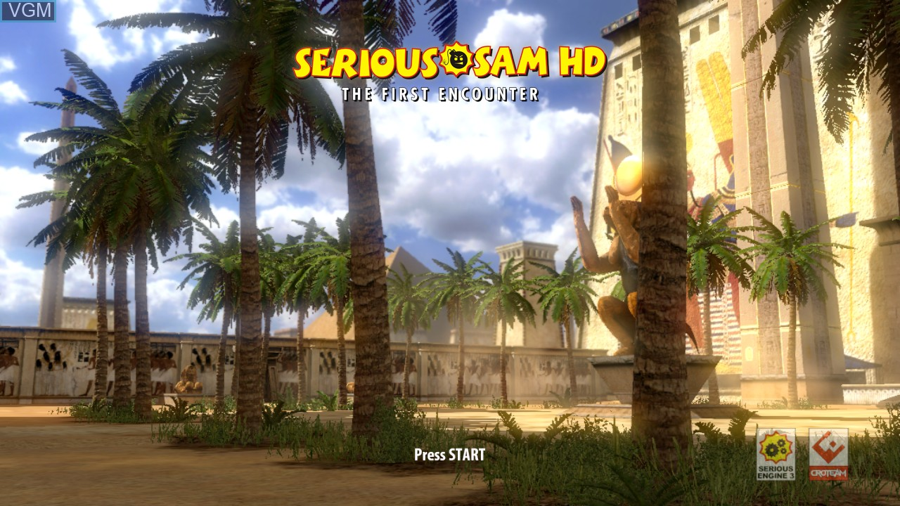 Title screen of the game Serious Sam HD - The First Encounter on Microsoft Xbox 360