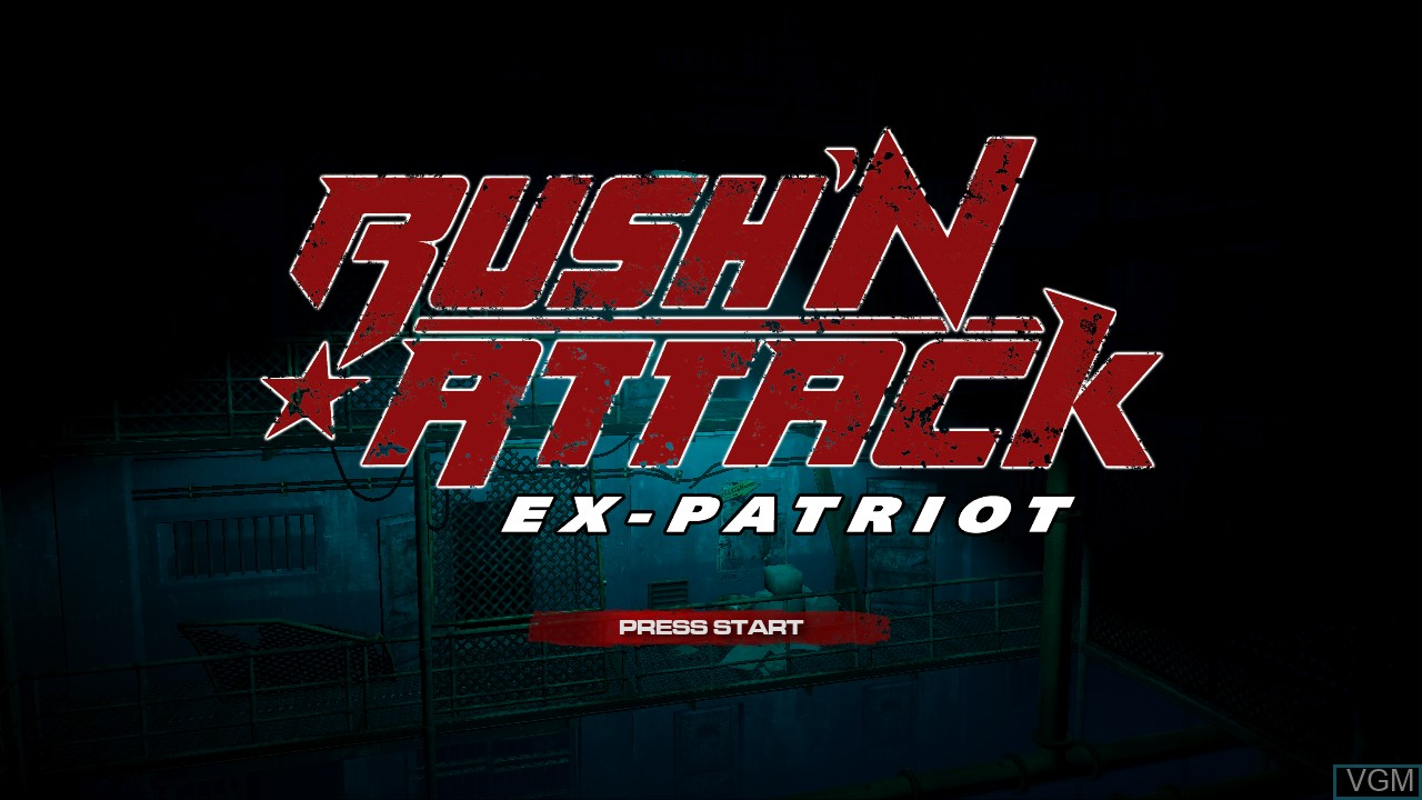 Title screen of the game Rush'N Attack Ex-Patriot on Microsoft Xbox 360