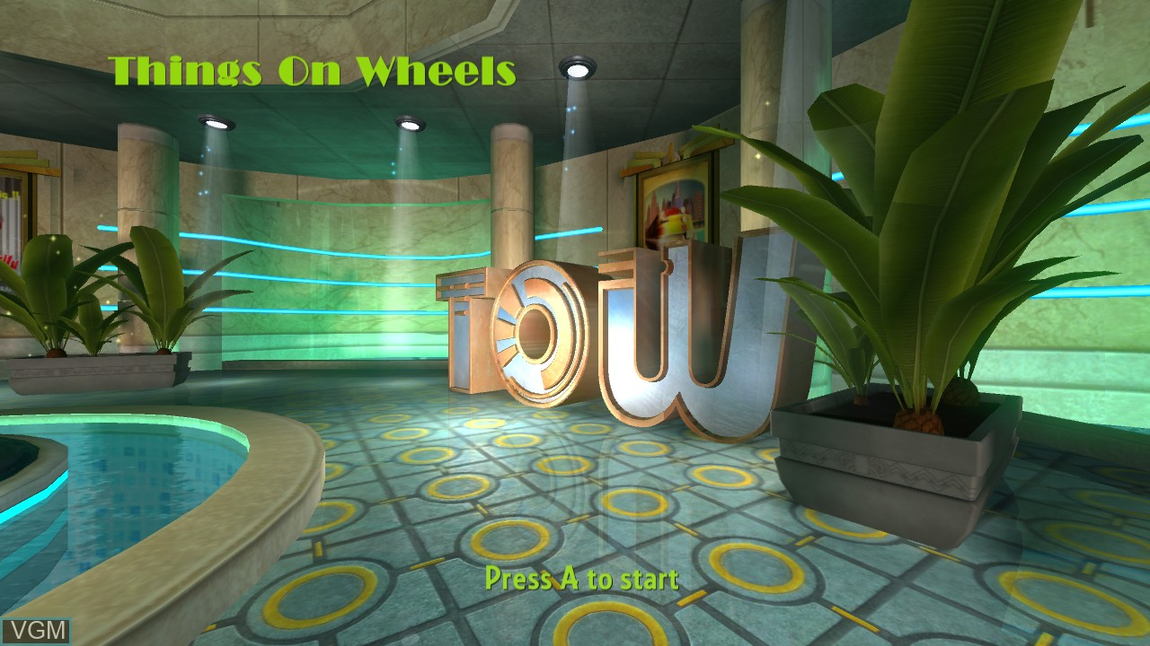 Title screen of the game Things on Wheels on Microsoft Xbox 360