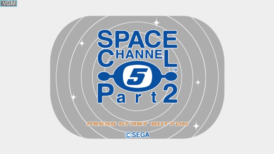 Title screen of the game Space Channel 5 Part 2 on Microsoft Xbox 360