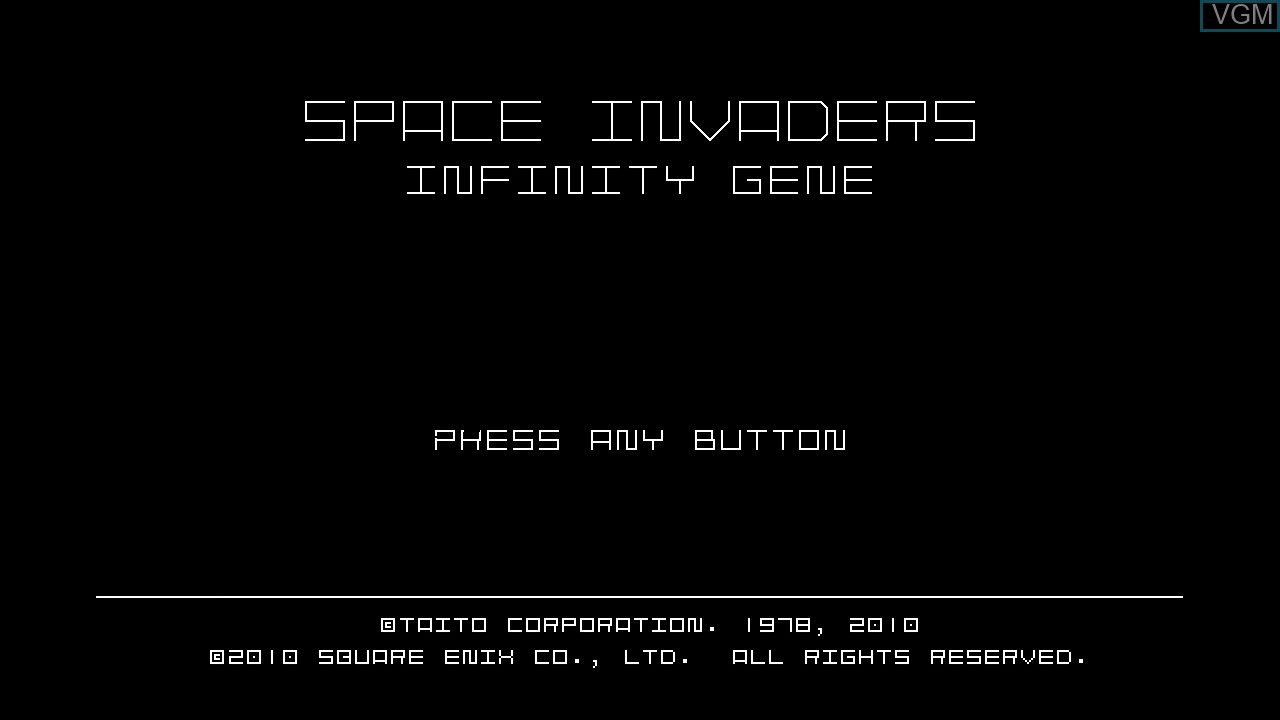 Title screen of the game Space Invaders Infinity Gene on Microsoft Xbox 360