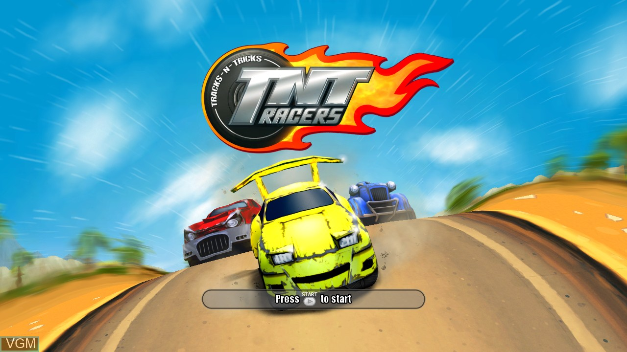 Title screen of the game TNT Racers on Microsoft Xbox 360