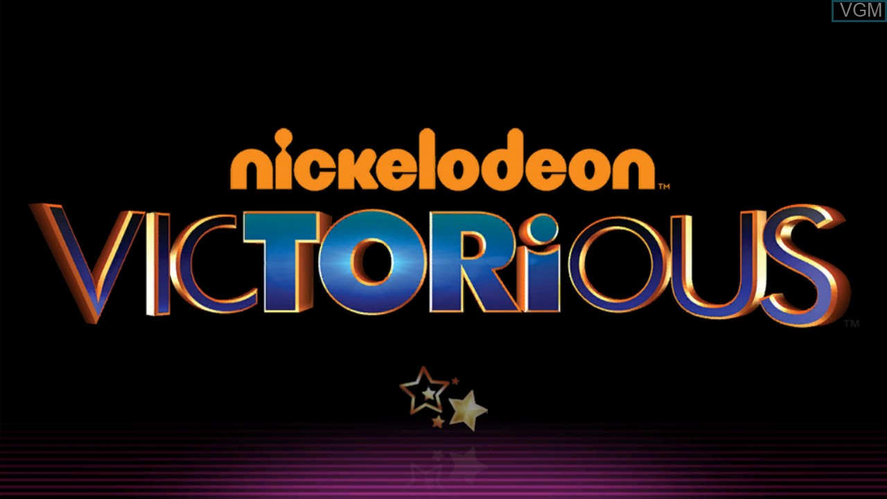 Title screen of the game Victorious - Time to Shine on Microsoft Xbox 360