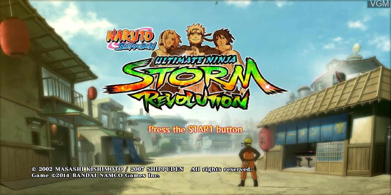 Title screen of the game Naruto Shippuden - Ultimate Ninja Storm Revolution on Microsoft Xbox 360
