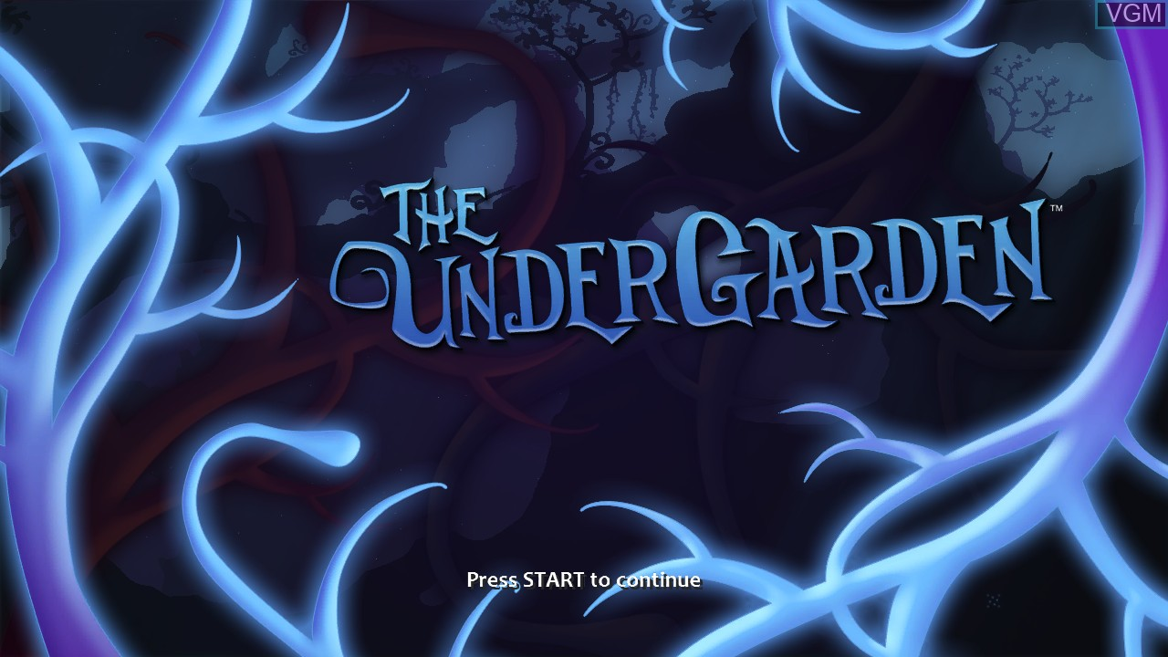 Title screen of the game UnderGarden, The on Microsoft Xbox 360